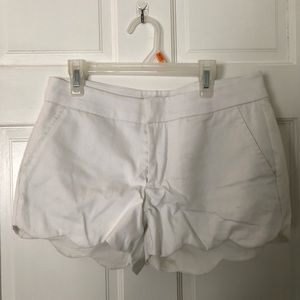 Francescas scalloped white shorts